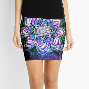 lotus mandala, skirt Redbubble