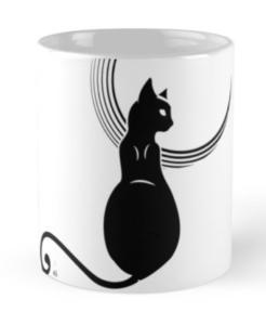 black moon mug, Redbubble