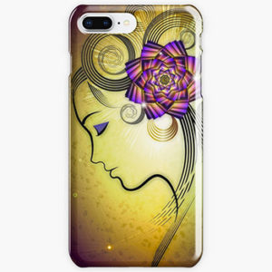woman with flowers-iphone cases