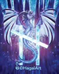 Dragon with Hagalaz rune