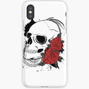 skull and roses-iphone