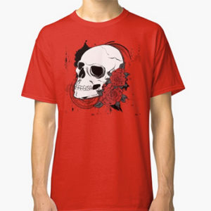 Skull and Roses T-shirt Redbubble