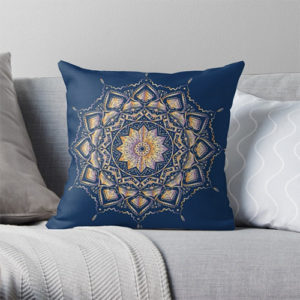 Etnic mandala throw pillow