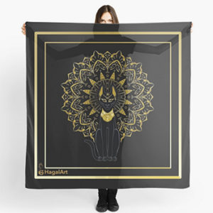 Bastet scarves, Redbubble