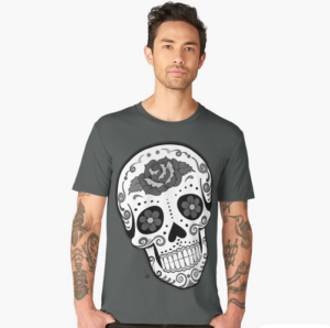 Happy Calavera premium t-shirt, Redbubble