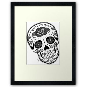 happy-calavera-wall-art, Redbubble