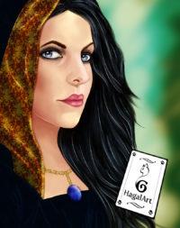 the witch, digital portrait