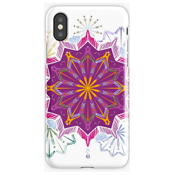 Spring mandala iphone cover ,Redbubble