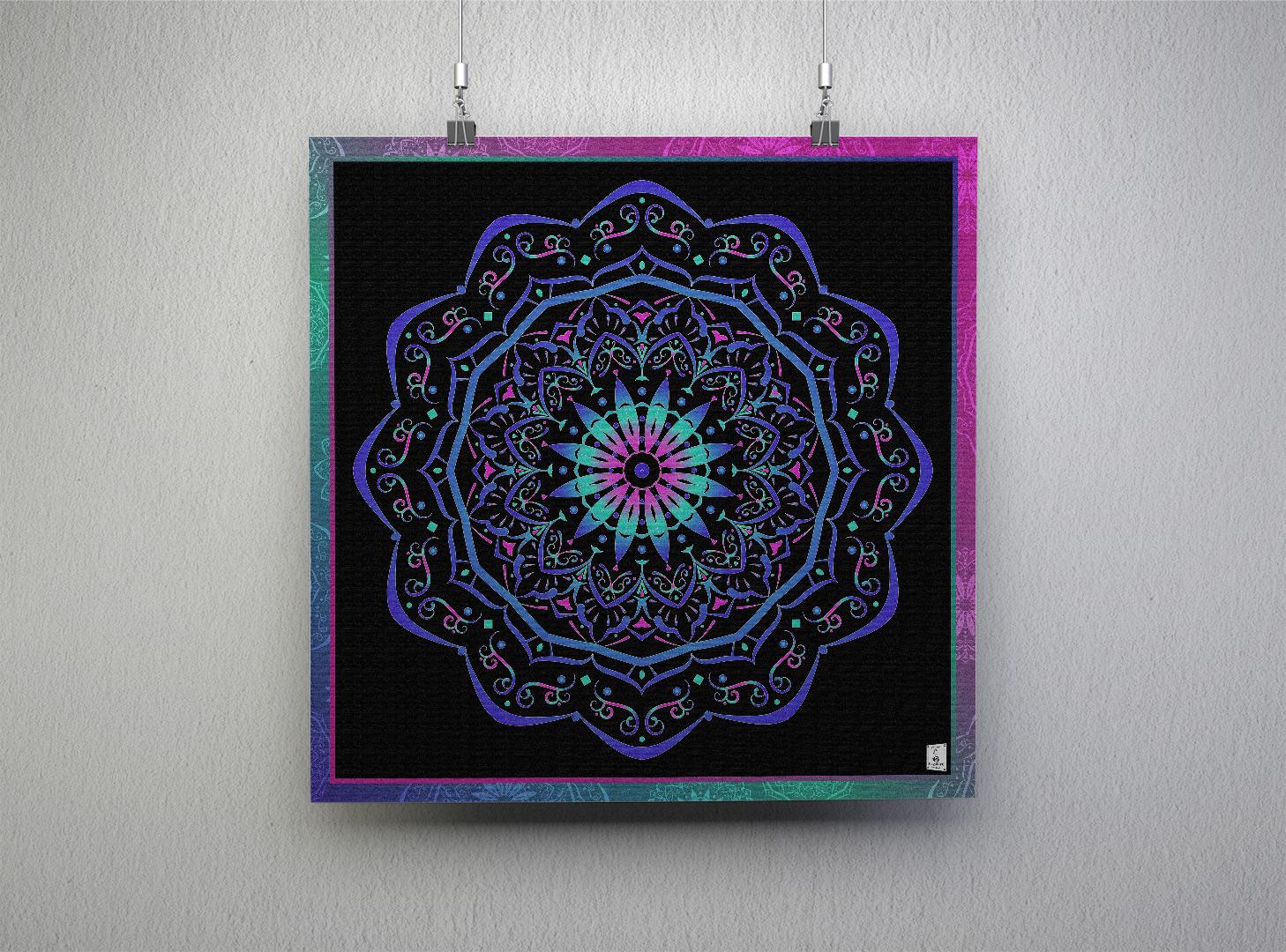 Mandala - Love. 100x100cm