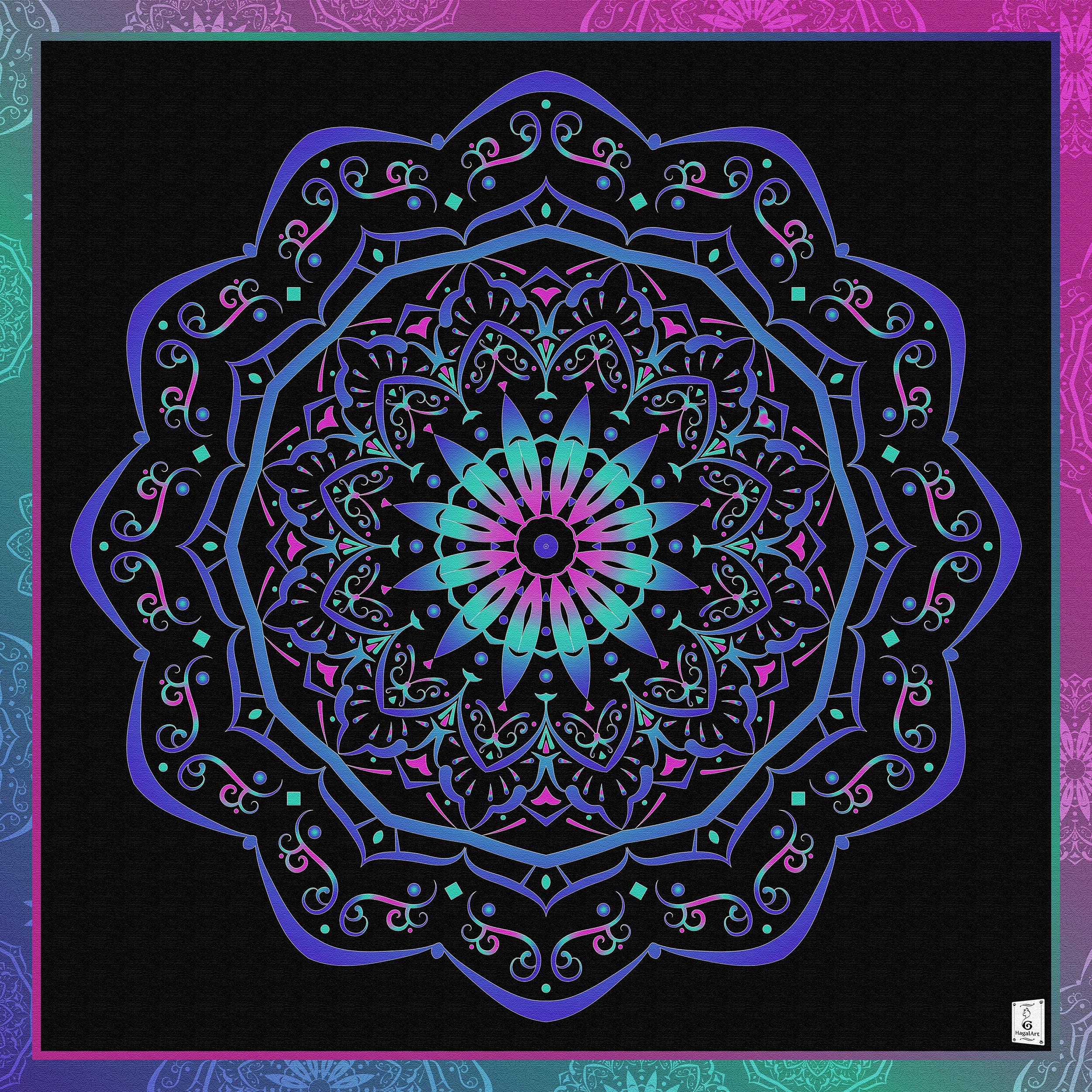 Mandala - Love.100x100cm