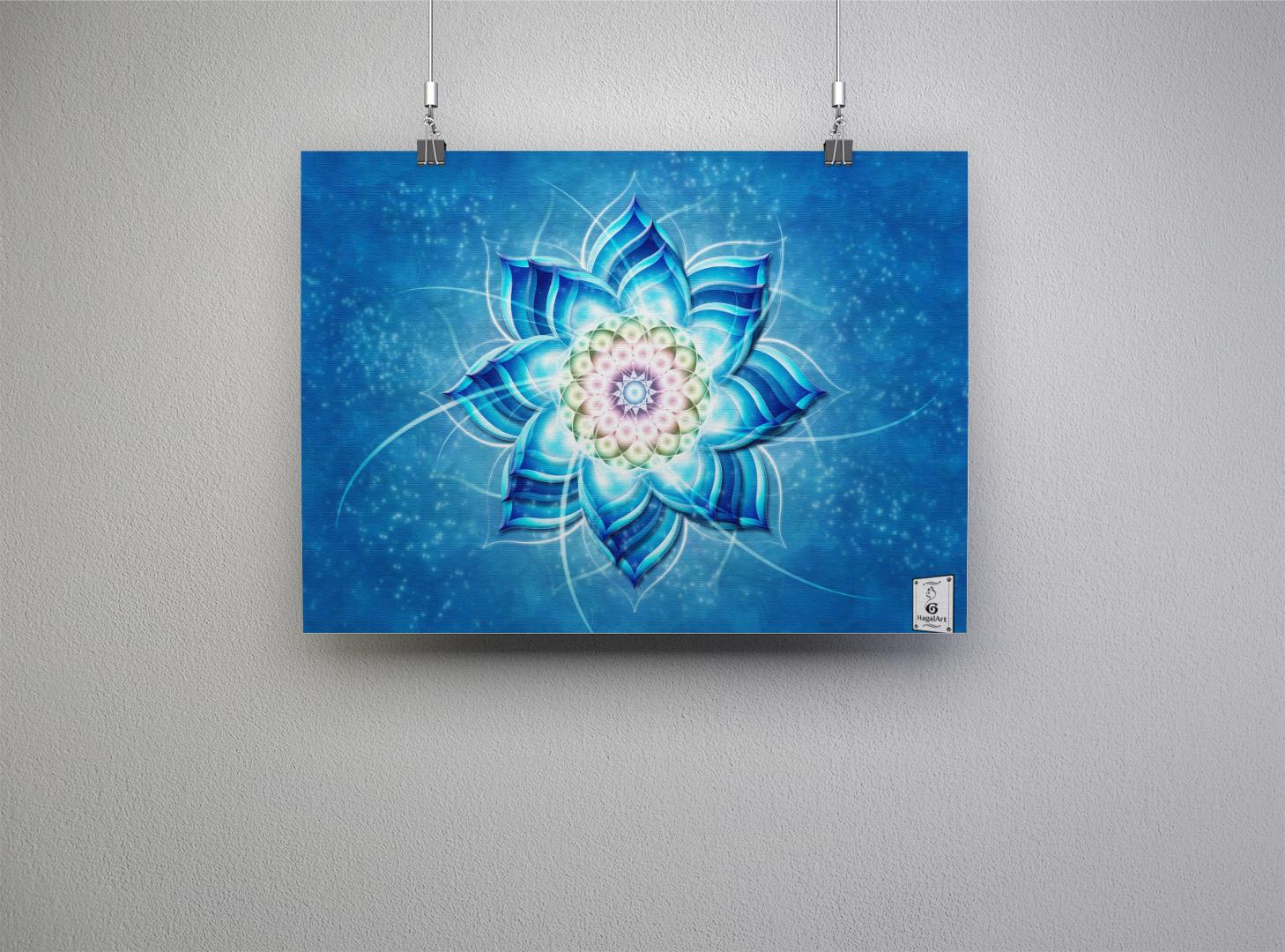 Mandala BLUE.30x40cm