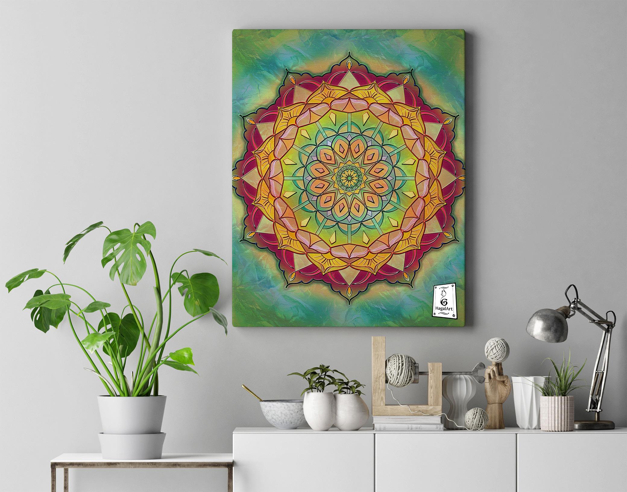 Mandala -COVID-5. 50x50cm