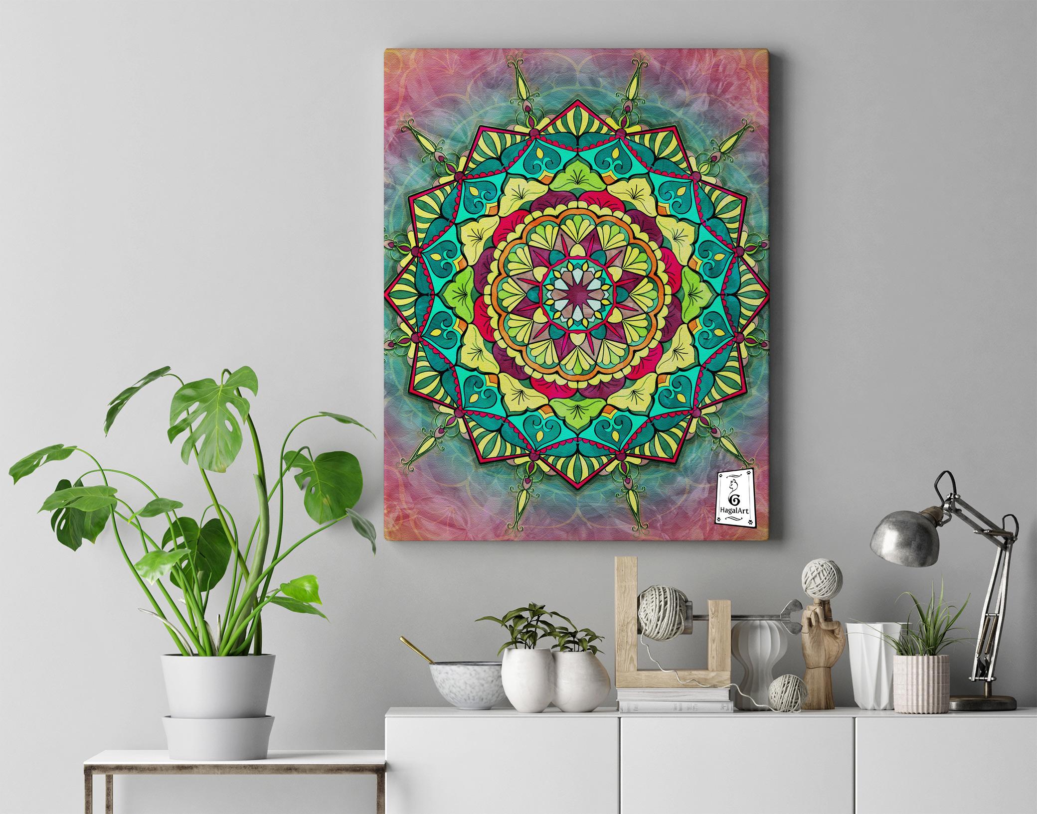 Mandala -COVID-6.50x50cm