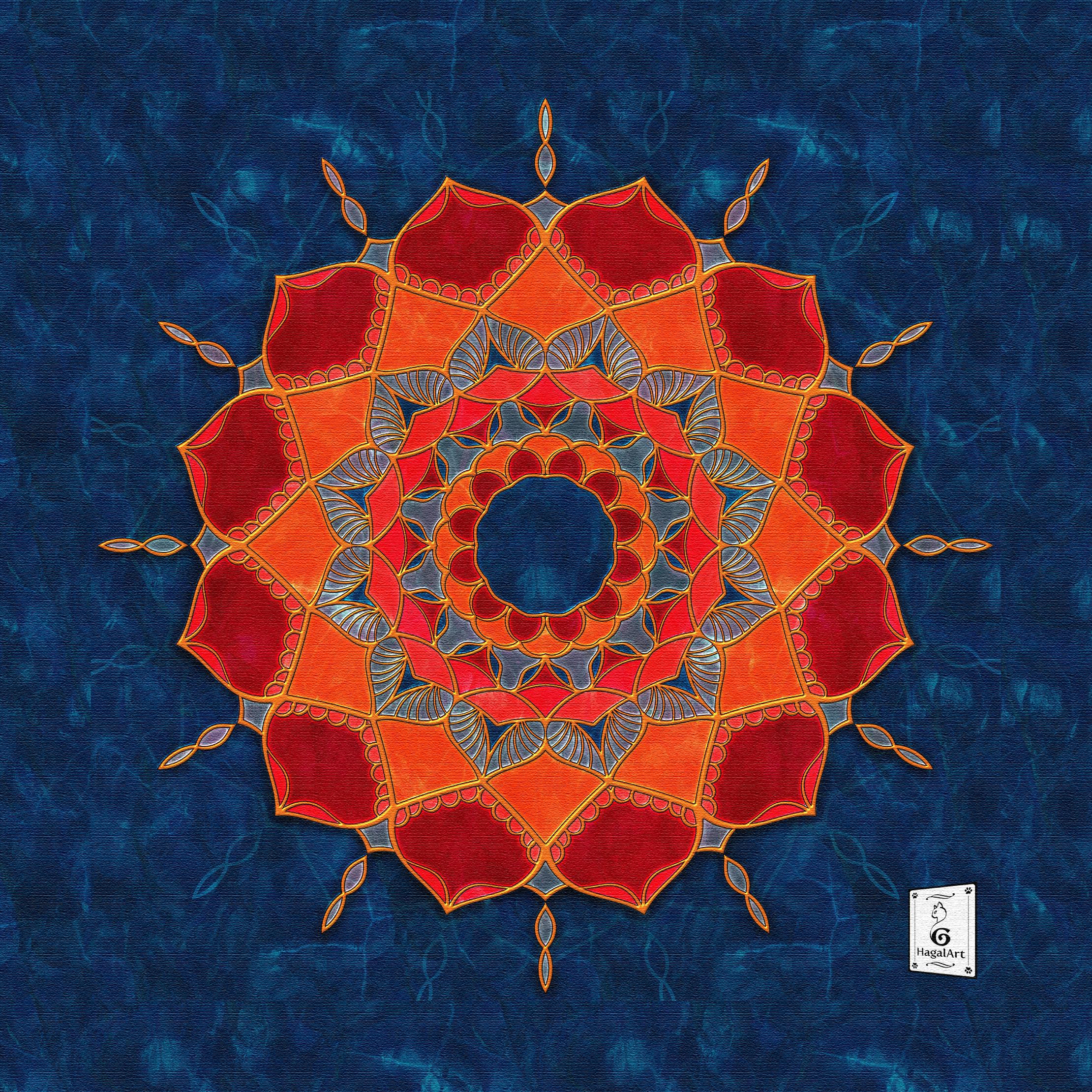 Mandala - COVID-7.30x30cm