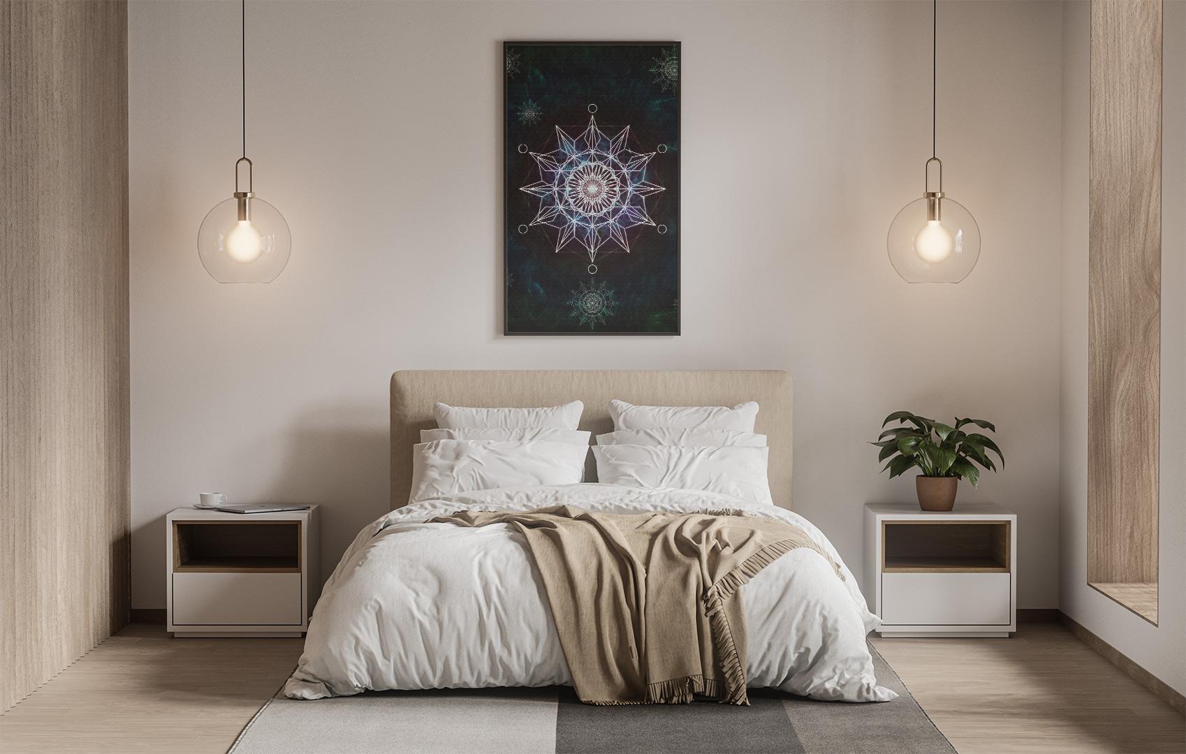 Crystal mandala. 37x50cm