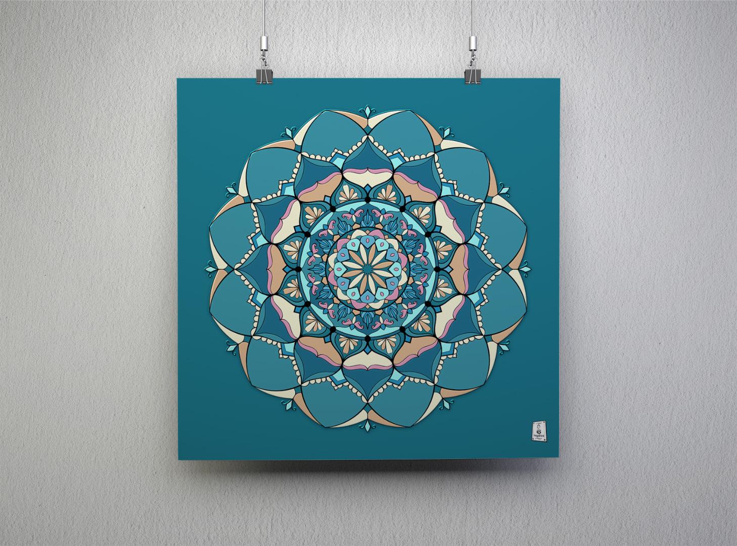 Mandala LORENA. Anno 2020.45x45cm