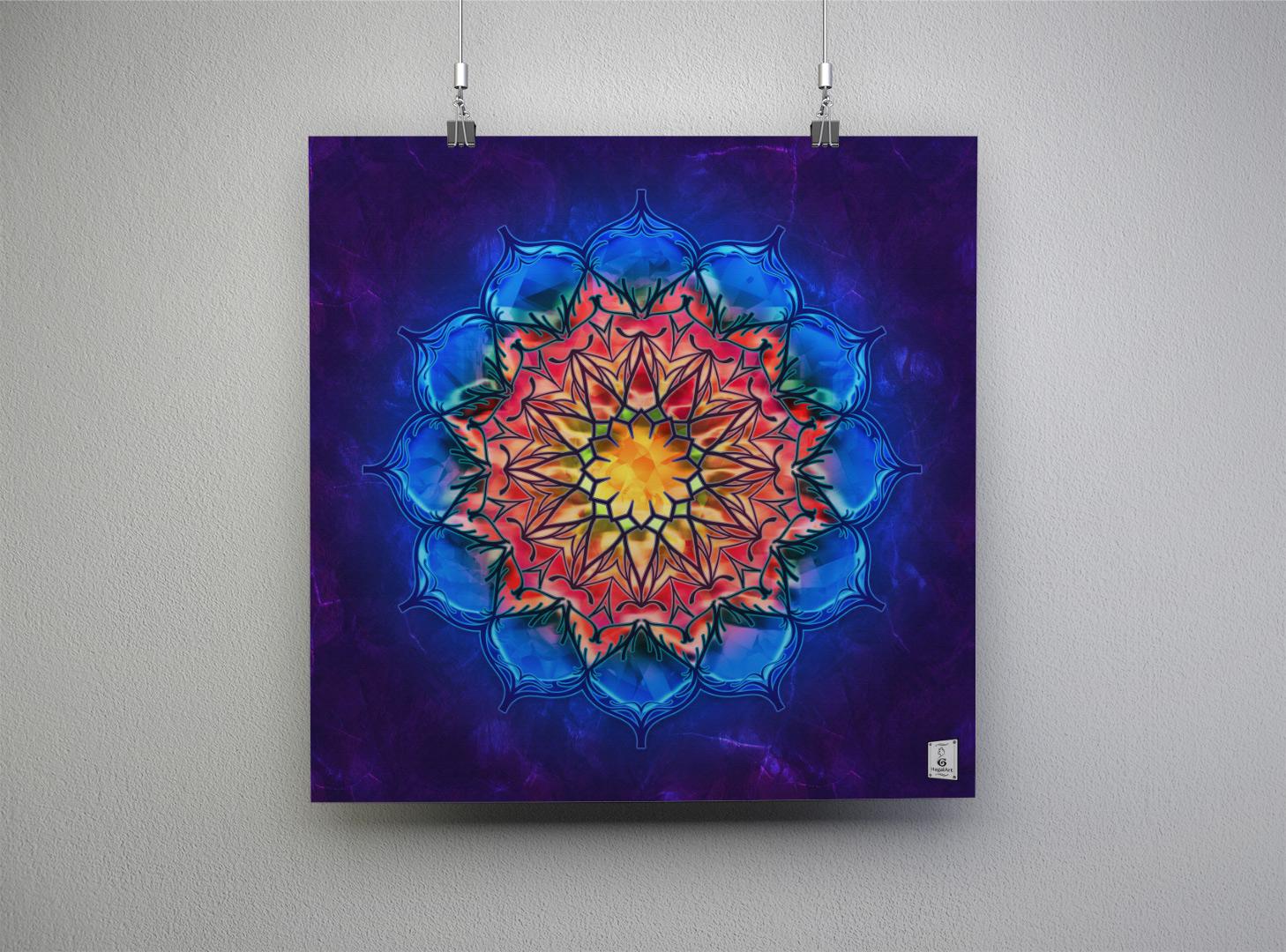 Mandala NEW MOON.45x45cm