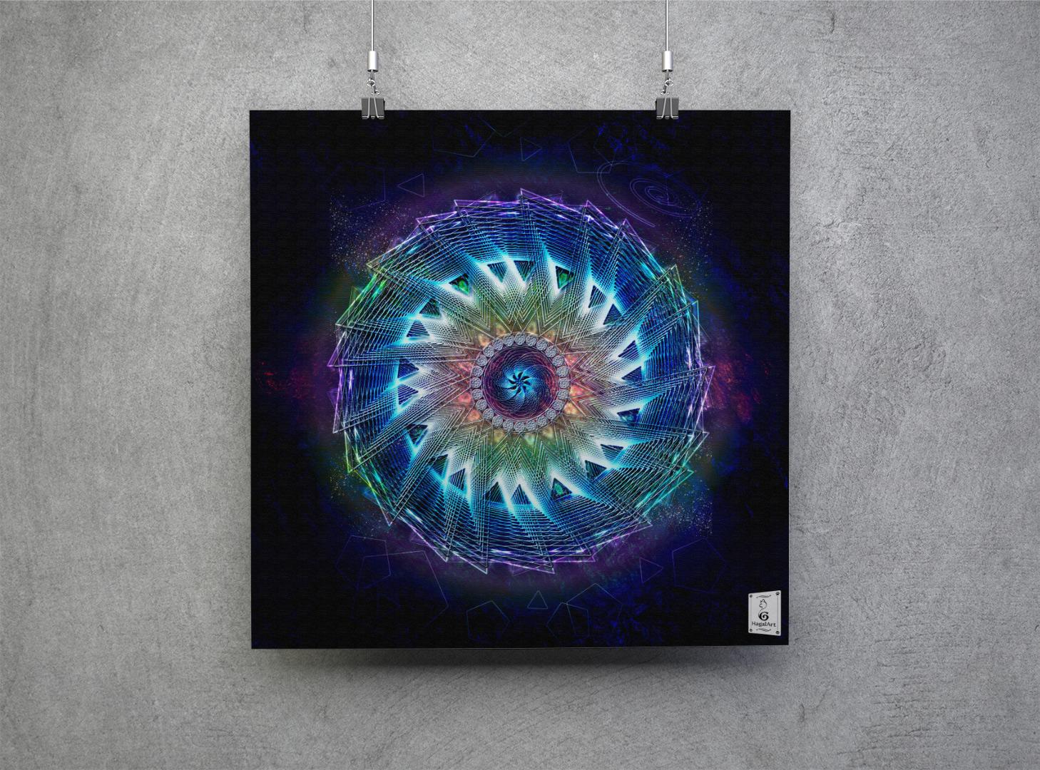 Mandala -PANIC.30x30cm