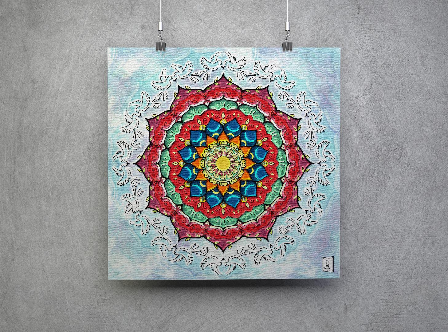 Mandala EASTER.50x50cm