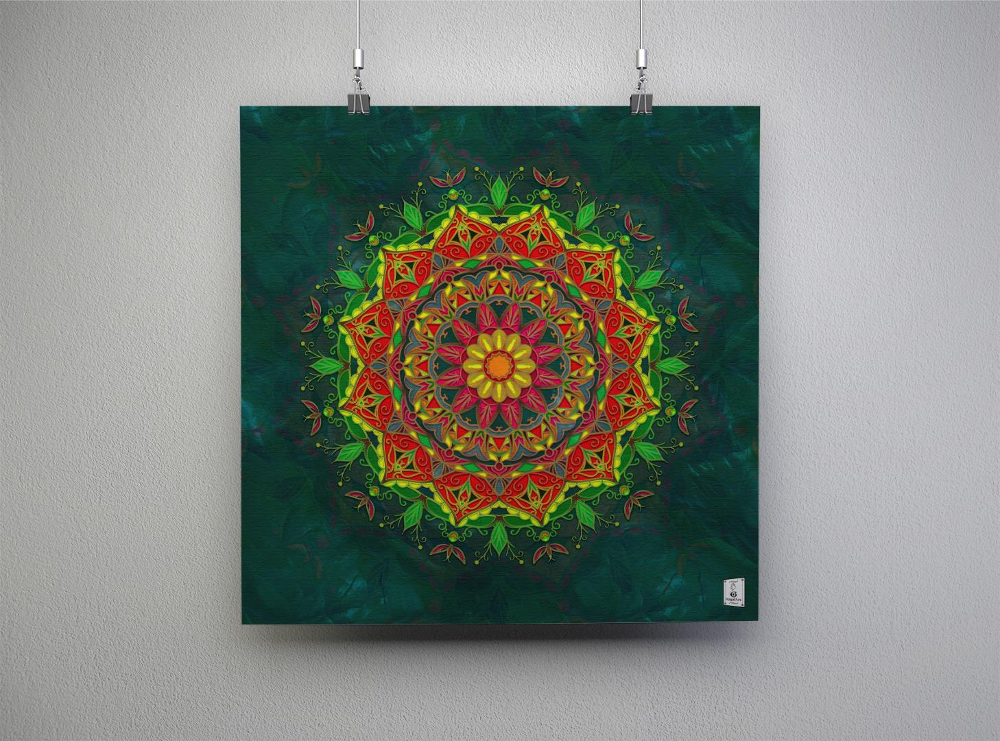 Mandala SPRING. Anno 2020.50x50cm