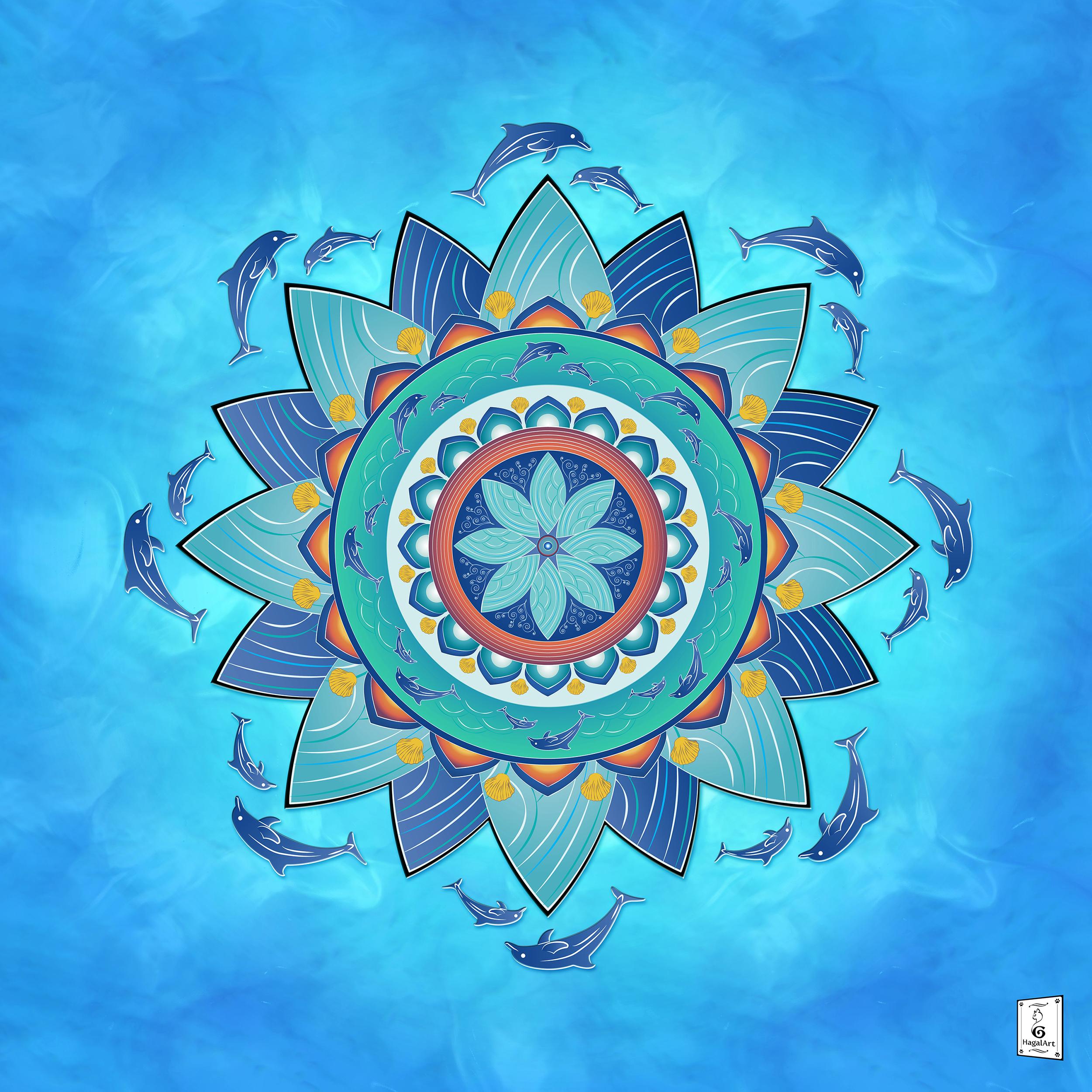 Mandala - DREAM.50x50cm