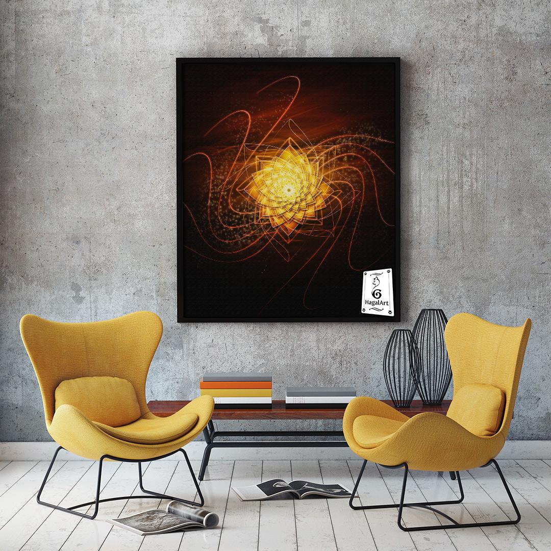 Mandala SUN GAZING.50x50cm