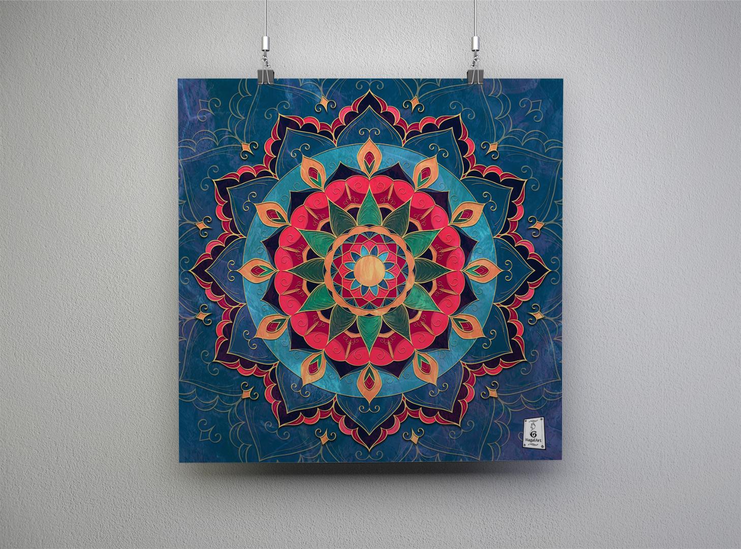Mandala HOPE.45x45cm